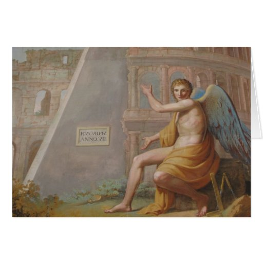 Angel by Ancient Ruins Greeting Card