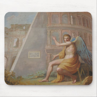 Angel by Ancient Ruins Mouse Pad