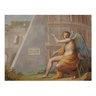 Angel by Ancient Ruins Postcard