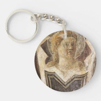 Angel by Piero della Francesca Single-Sided Round Acrylic Keychain