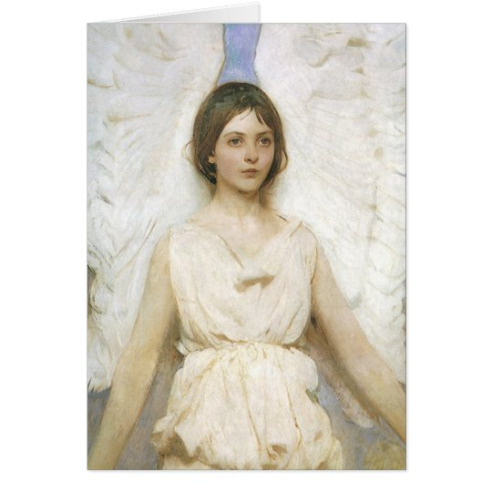 Angel by Thayer, Vintage Victorian Easter Card