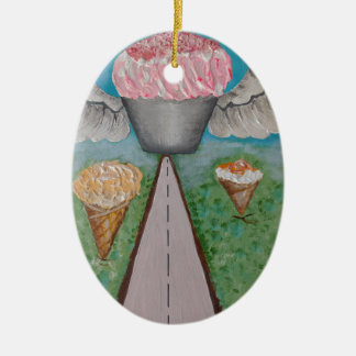 angel cake.JPG Ceramic Ornament