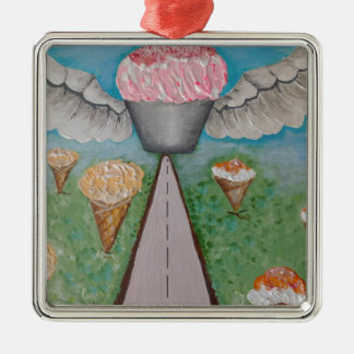 angel cake.JPG Metal Ornament