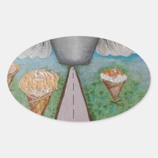 angel cake.JPG Oval Sticker