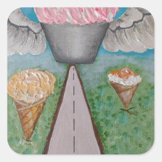 angel cake.JPG Square Sticker