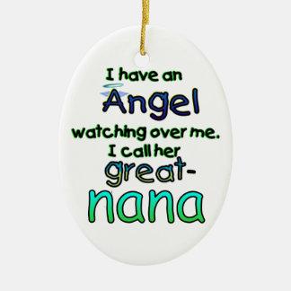 ANGEL CALLED GREAT-NANA CERAMIC ORNAMENT