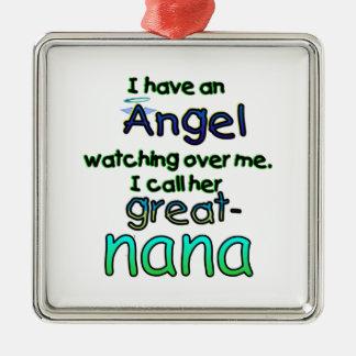 ANGEL CALLED GREAT-NANA METAL ORNAMENT