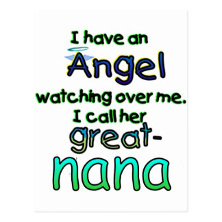 ANGEL CALLED GREAT-NANA POSTCARD
