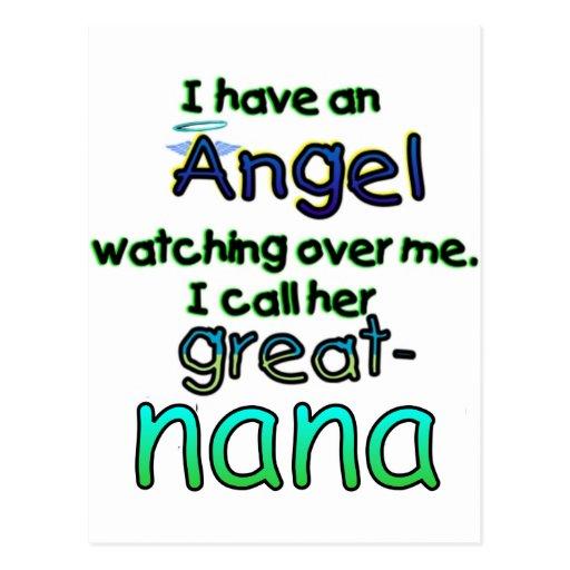 ANGEL CALLED GREAT-NANA POST CARD
