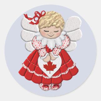 Ángel canadiense etiqueta