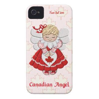 Ángel canadiense y hoja de arce - personalizar funda para iPhone 4