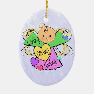 Angel Caregiver Ceramic Ornament