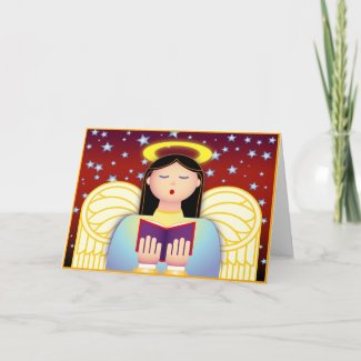 Angel Caroler card