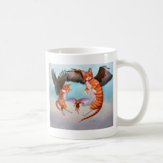 Angel Cat and Mouse Game Classic White Coffee Mug