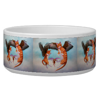 Angel Cat and Mouse Game Pet Bowl