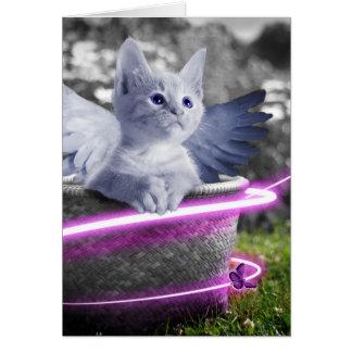 angel cat card