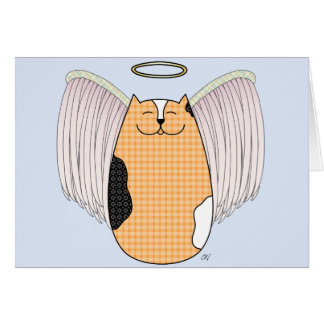 'Angel Cat' Card