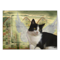 Angel Cat Card | With deepest Sympathy