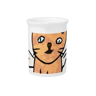 Angel Cat Drink Pitcher