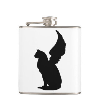 Angel Cat Flask
