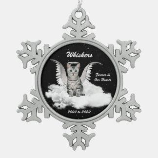 Angel Cat Gray Tabby Memorial Christmas Ornaments