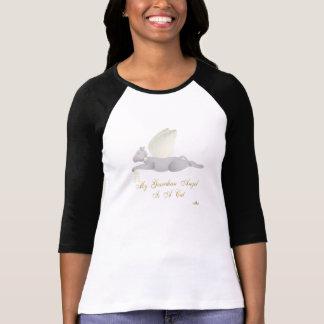 Angel Cat Light Gray Yellow Roses Guardian Angel C T-Shirt