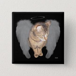 Angel Cat (Lucian) Button