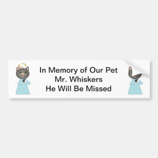 Angel Cat Memorial Bumper Sticker
