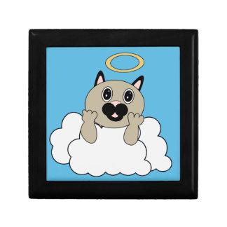 Angel Cat on Cloud Trinket Box