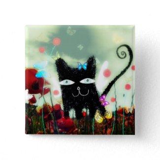 Angel cat poppy heaven Papillons lomography petite button