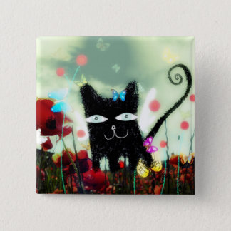 Angel cat poppy heaven Papillons lomography petite Button