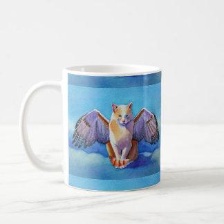 Angel Cat Red Tail Hawk Coffee Mug