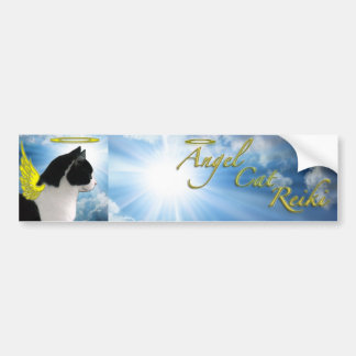 angel cat reiki bumper sticker
