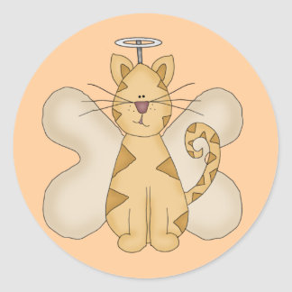 Angel Cat Tshirts and Gifts Classic Round Sticker