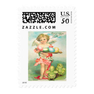Angel Cherub Easter Chick Colored Egg Postage