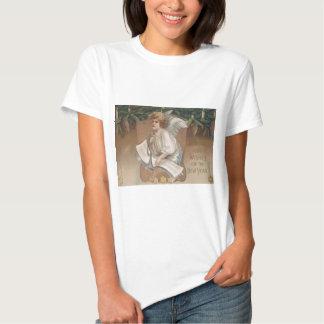 Angel Cherub Evergreen Bough Candle Shirt