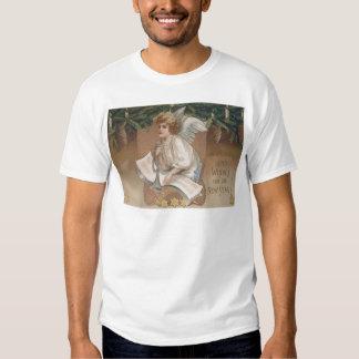 Angel Cherub Evergreen Bough Candle T-shirt