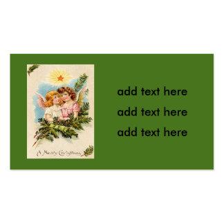 Angel Cherub Evergreen Bough Heaven Business Card