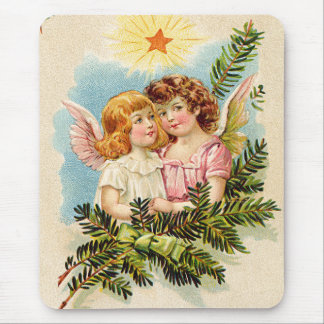 Angel Cherub Evergreen Bough Heaven Mouse Pad