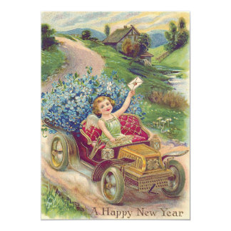 Angel Cherub Forget-Me-Not Car Card