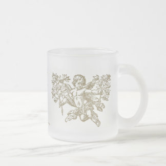 "Angel ""Cherub"" Frosted Glass Mug"