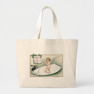 Angel Cherub Holly Calendar Resolution Letter Large Tote Bag