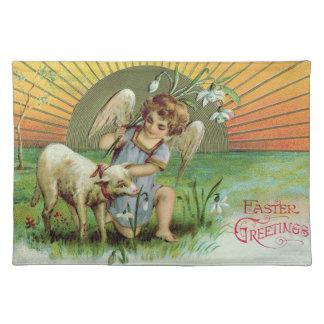 Angel Cherub Sun Lamb Sheep Cloth Placemat