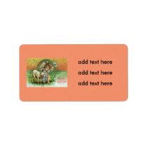 Angel Cherub Sun Lamb Sheep Label