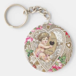 Angel Cherub Vintage Picture Keychain