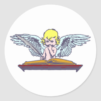 Angel Cherubim cherub Classic Round Sticker