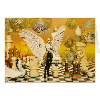 angel chess greeting card