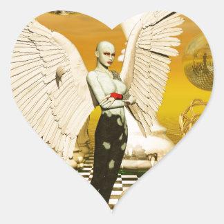 angel chess heart sticker