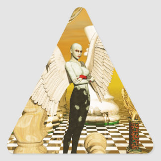 angel chess triangle sticker