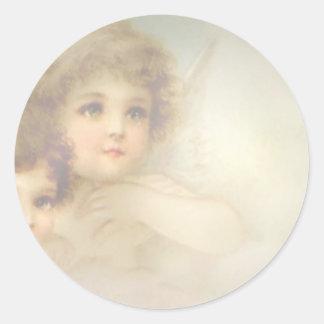 Angel Children Classic Round Sticker